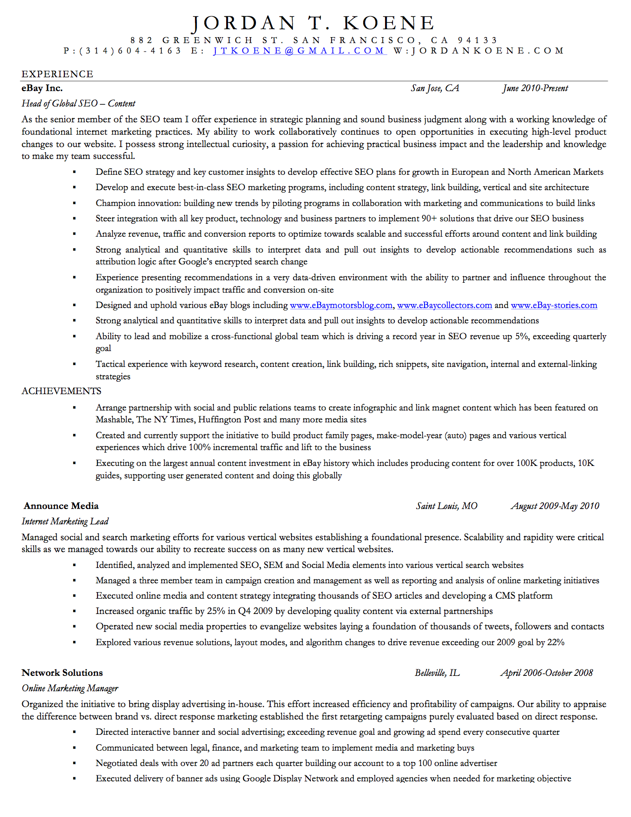 marketer resumes. social media marketing resume sample throughout ...