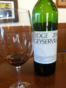 Ridge Wine Bottle at Bar