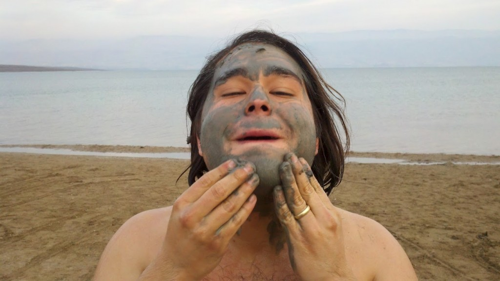 Face Scrub at The Dead Sea